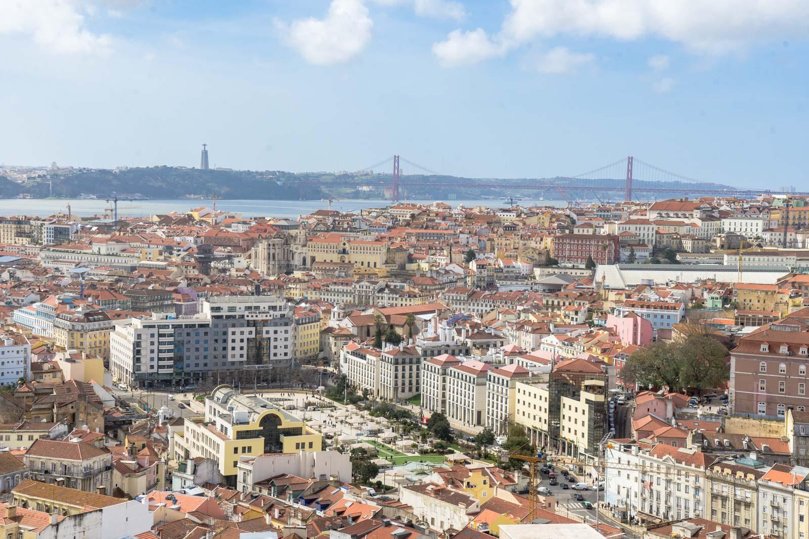 Viewpoint at Miradouro de Nossa Senhora do Monte, Graca, Lisbon