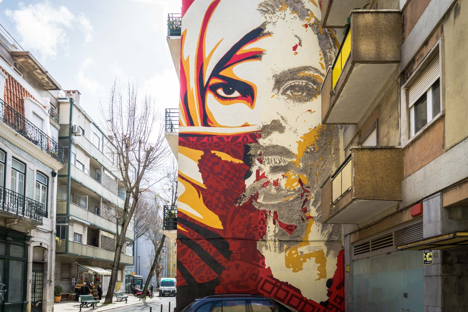 Street art in Graca, Lisbon