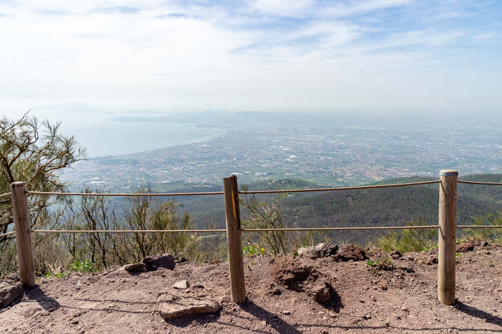 Hiking Mount Vesuvius, Naples, Italy