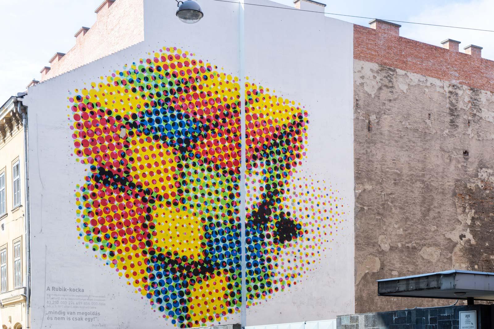 Street art in the Jewish Quarter, Budapest