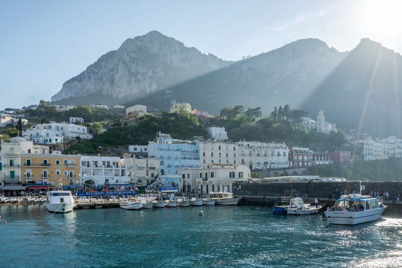 Joining the glitterati in Capri