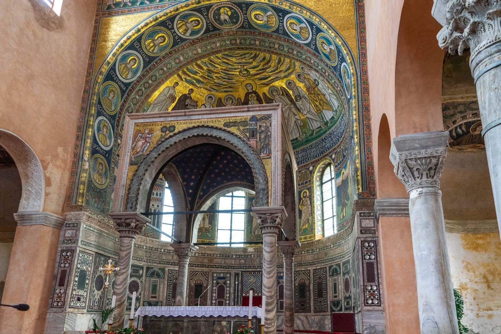 The Euphrasian Basilica in Poreč, Croatia