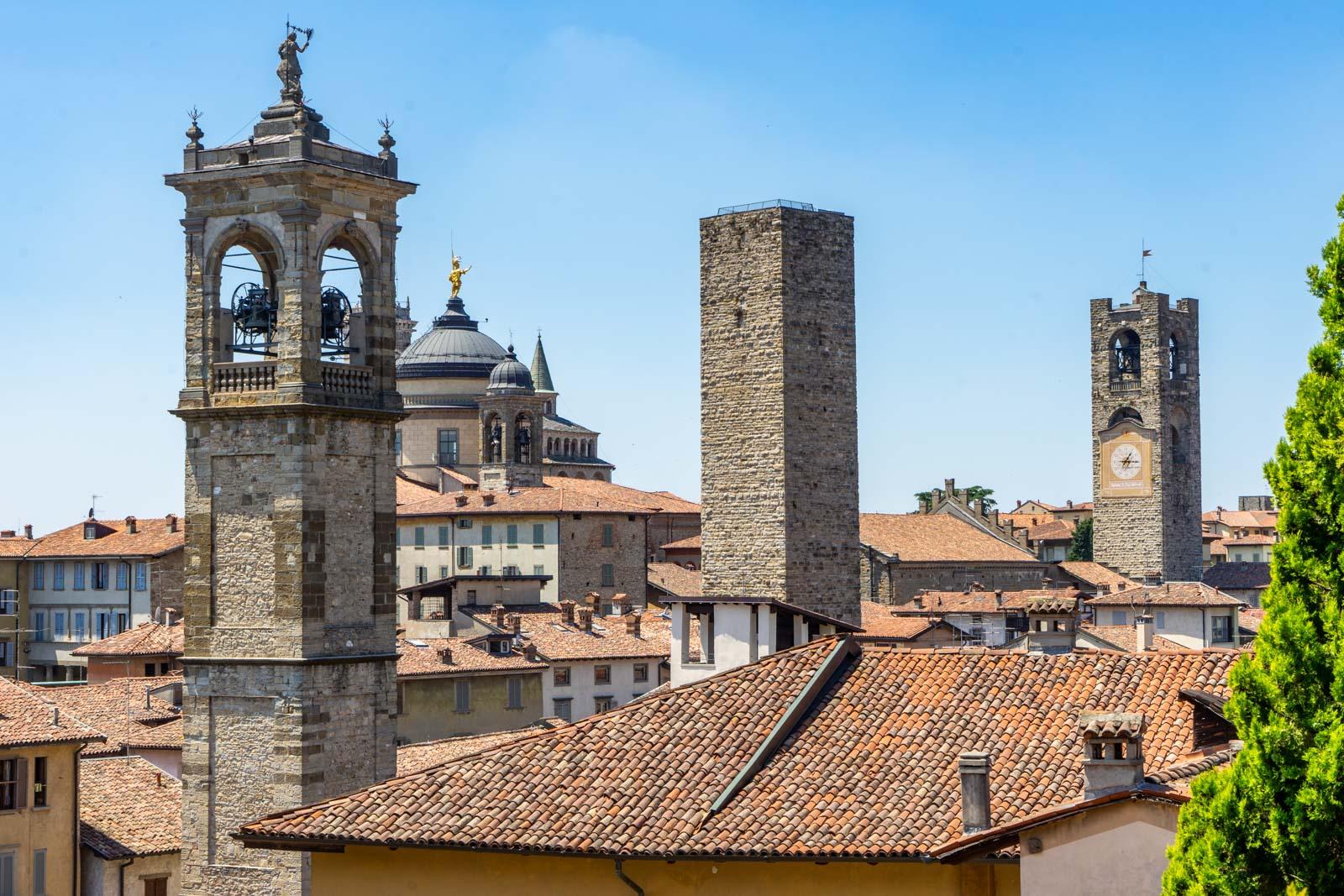 Rocca of Bergamo, Italy