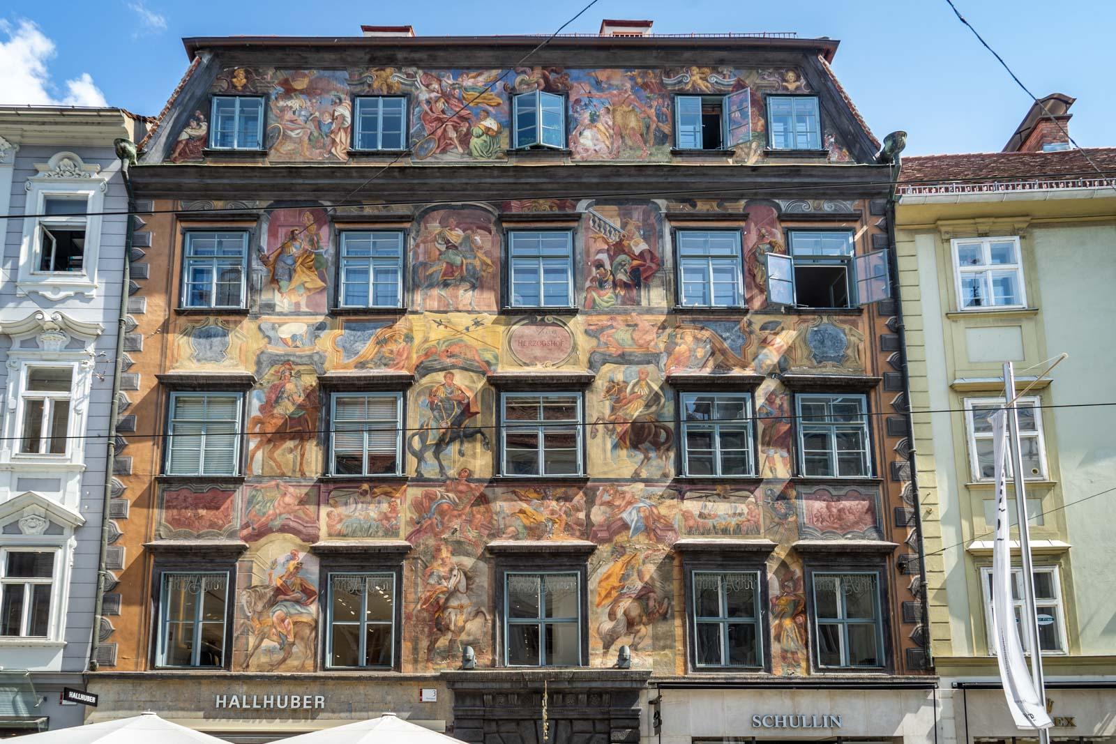 Gemaltes Haus on Herrengasse, Graz, Austria