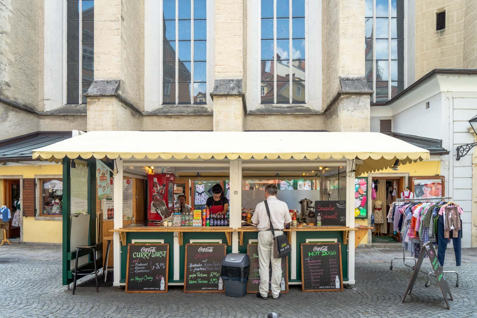 Sausage stall, Graz, Austria