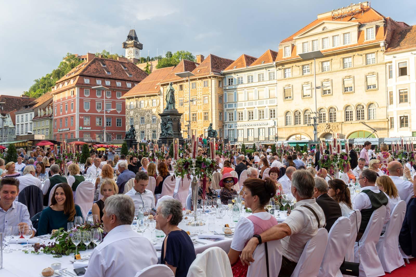 The Long Table dinner, Graz, Austria