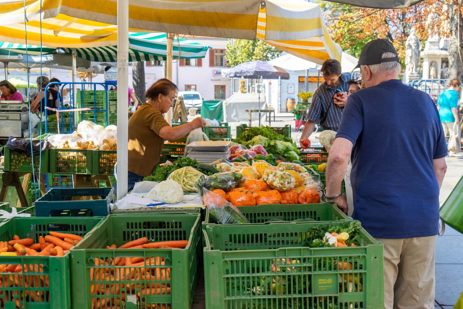 Farmers markets, Graz, Austria