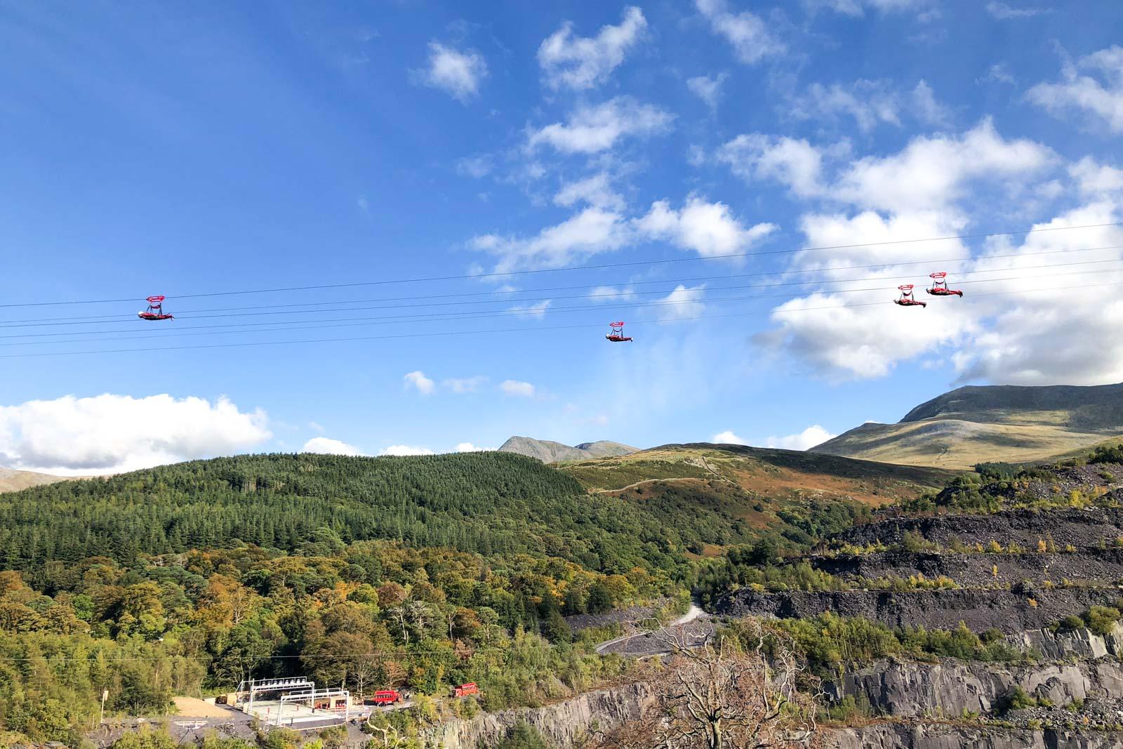 Velocity 2 Zipline in Wales