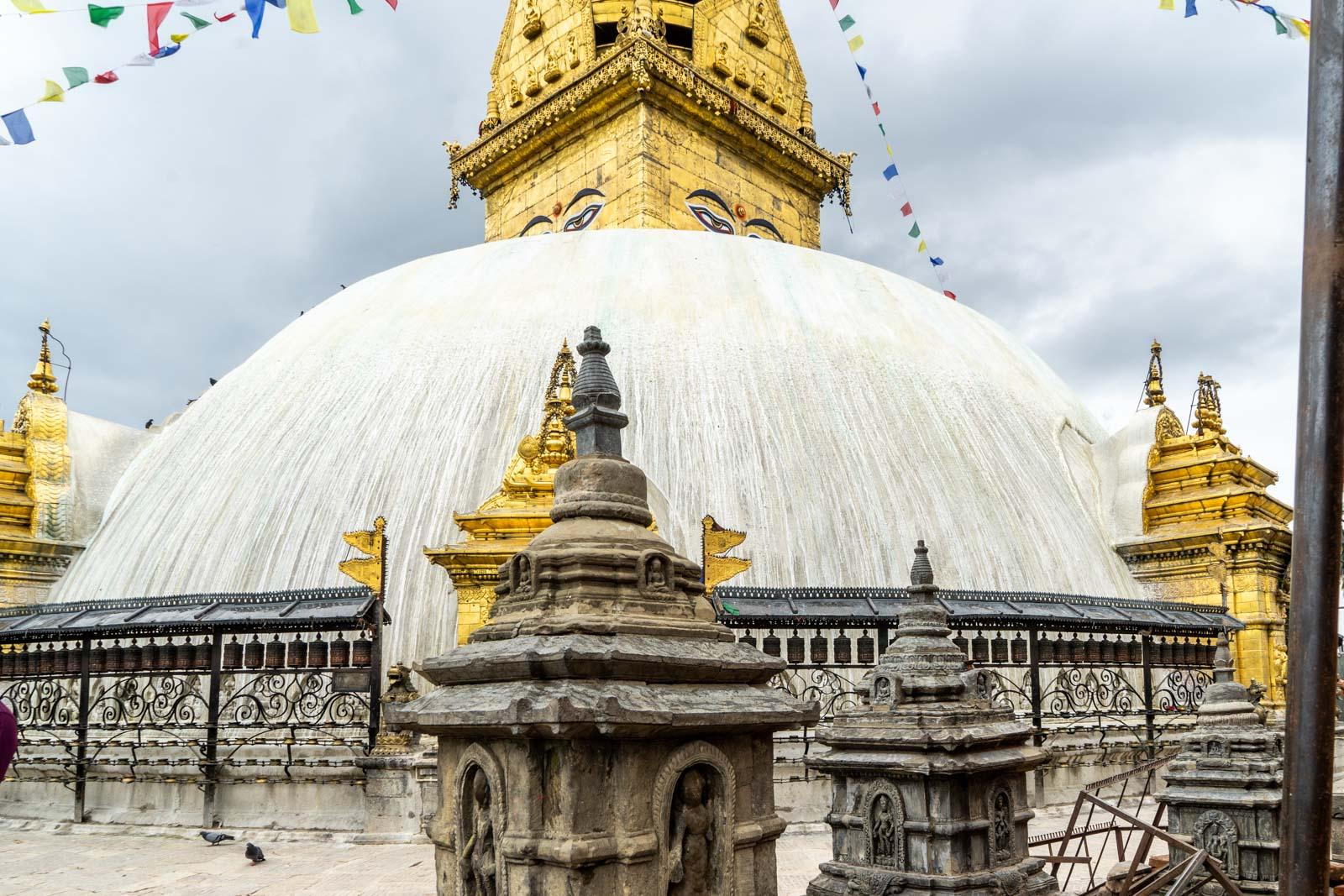 Swayambhunath monkey temple, Kathmandu, Nepal