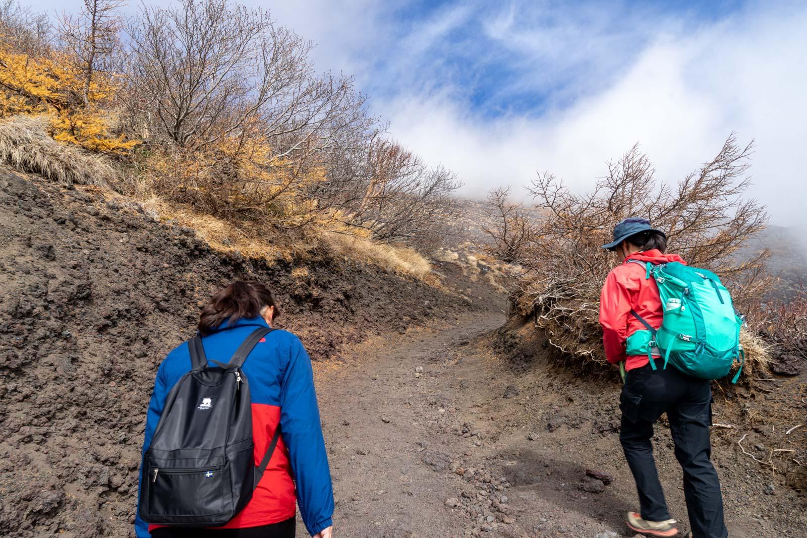 Climbing Mt Fuji from Fujinomiya, Japan