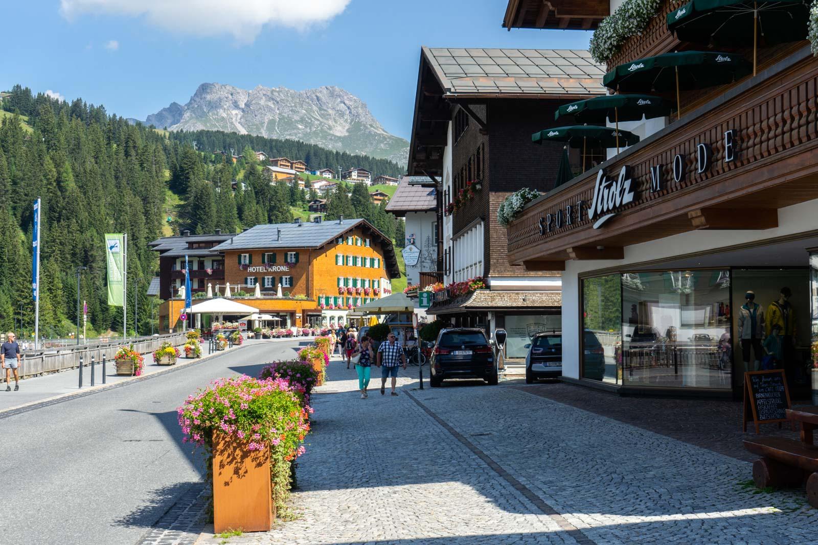 Lech in summer, Austria