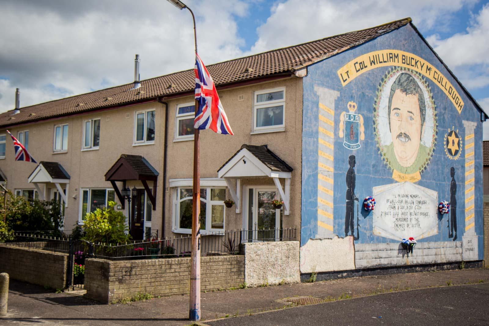Belfast peace wall murals, Northern Ireland