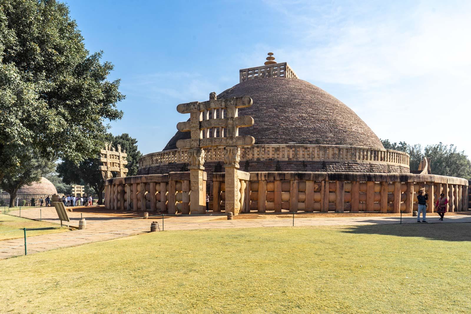 The Great Stupa at Sanchi, Madhya Pradesh, India