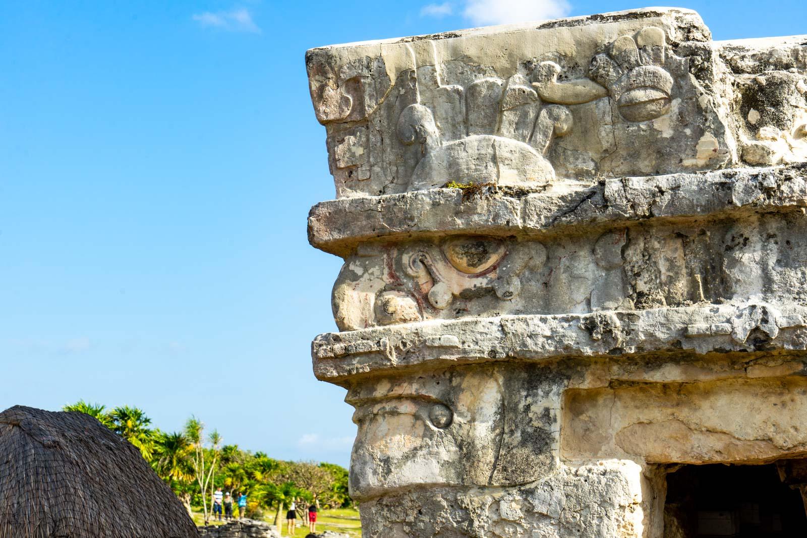 Tulum ruins, Mayan ruins at Tulum, Mexico