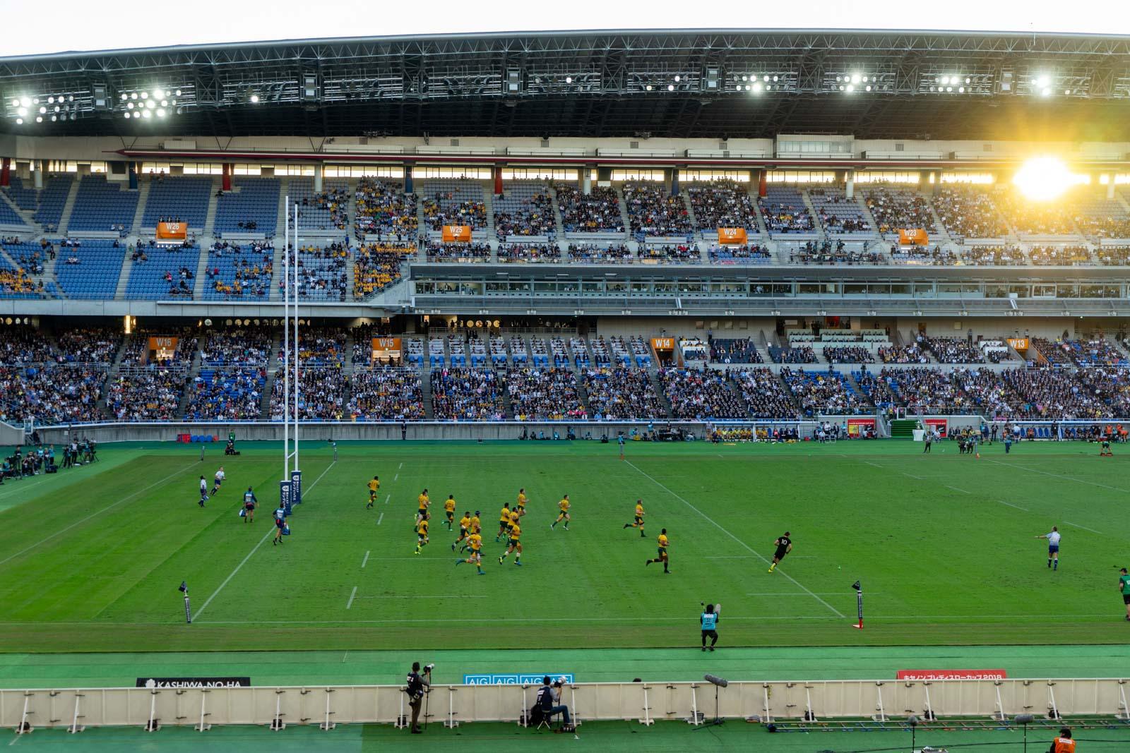 Rugby at Nissan Stadium, Yokohama, Japan