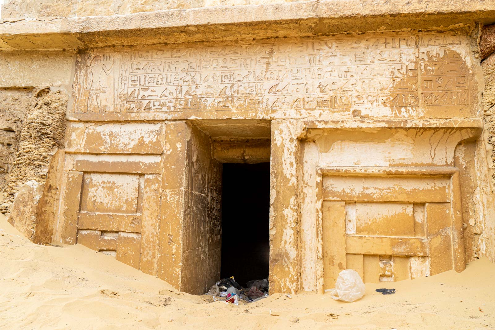 Tombs at Saqqara, Egypt