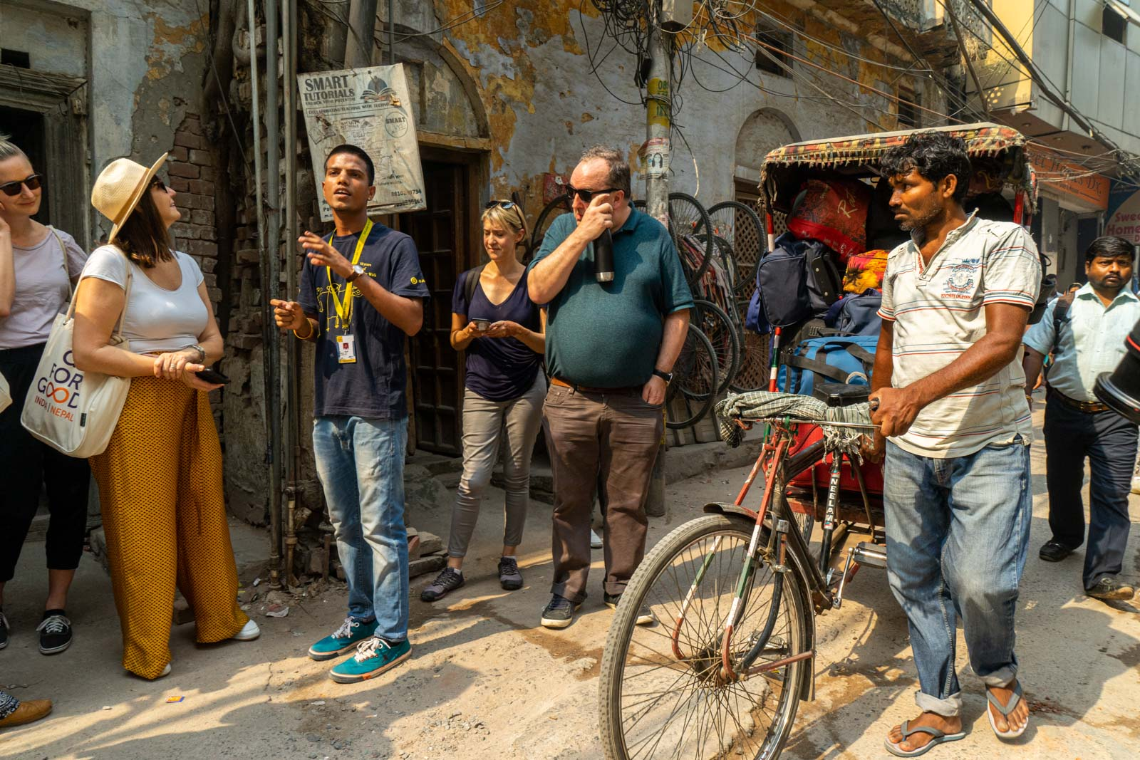 Delhi street tour with Salaam Baalak Trust, India
