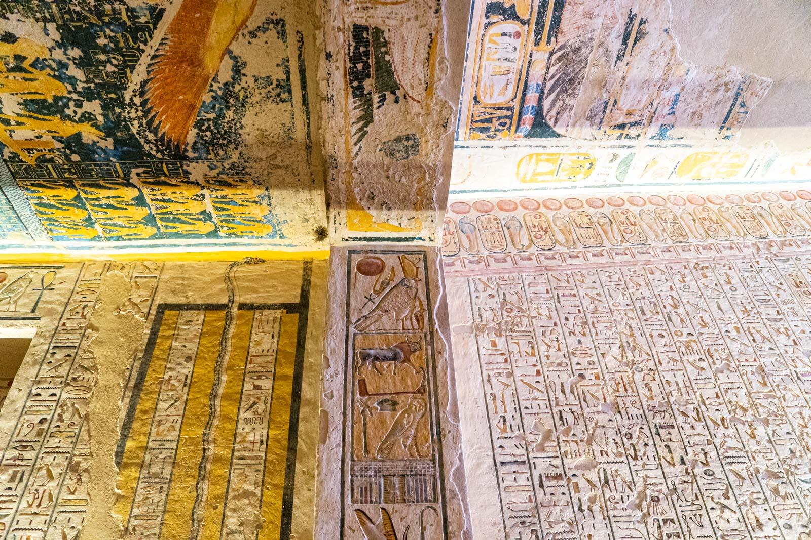 Tomb of Rameses IX (KV6), Valley of the Kings, Egypt