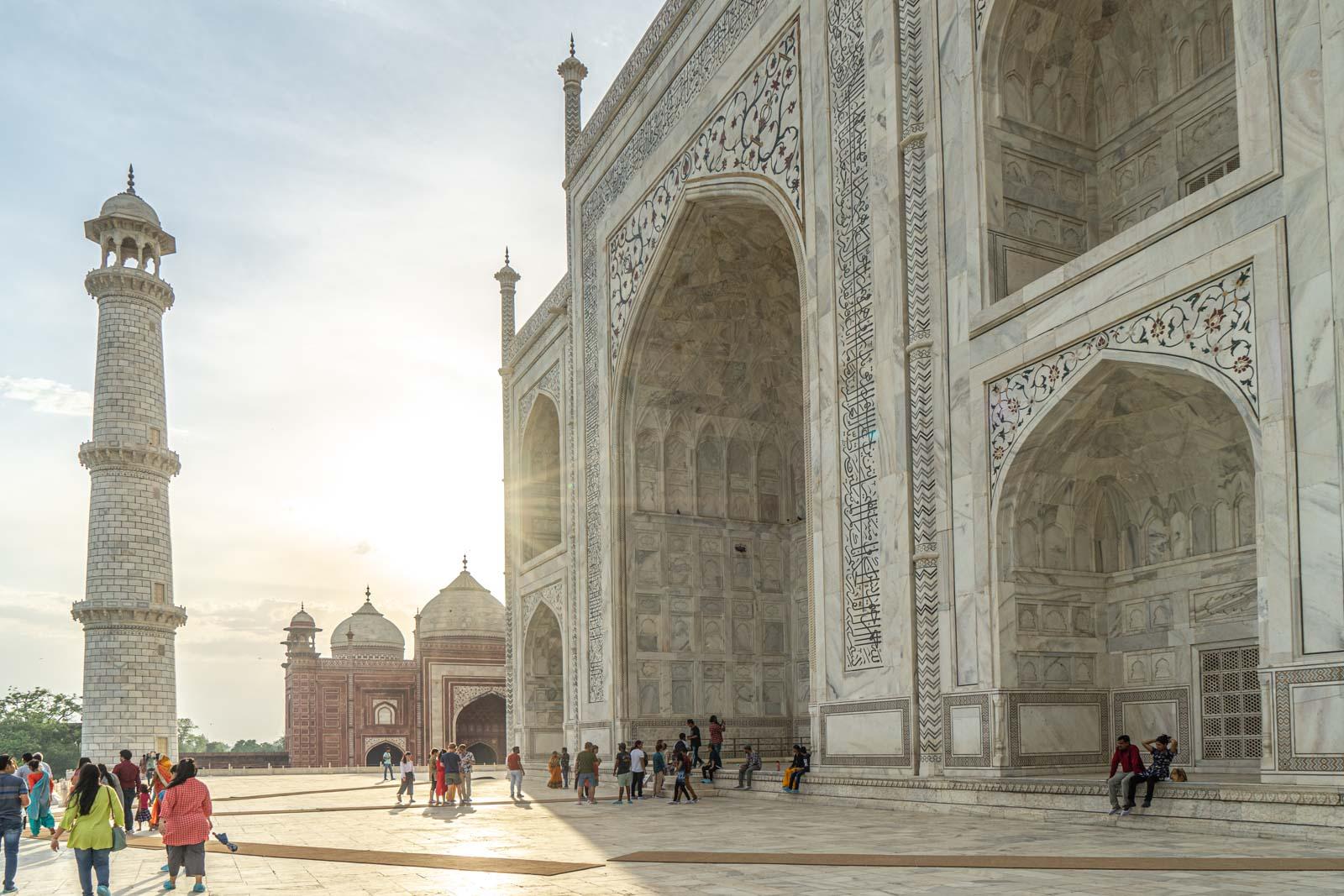 Visiting the Taj Mahal, India