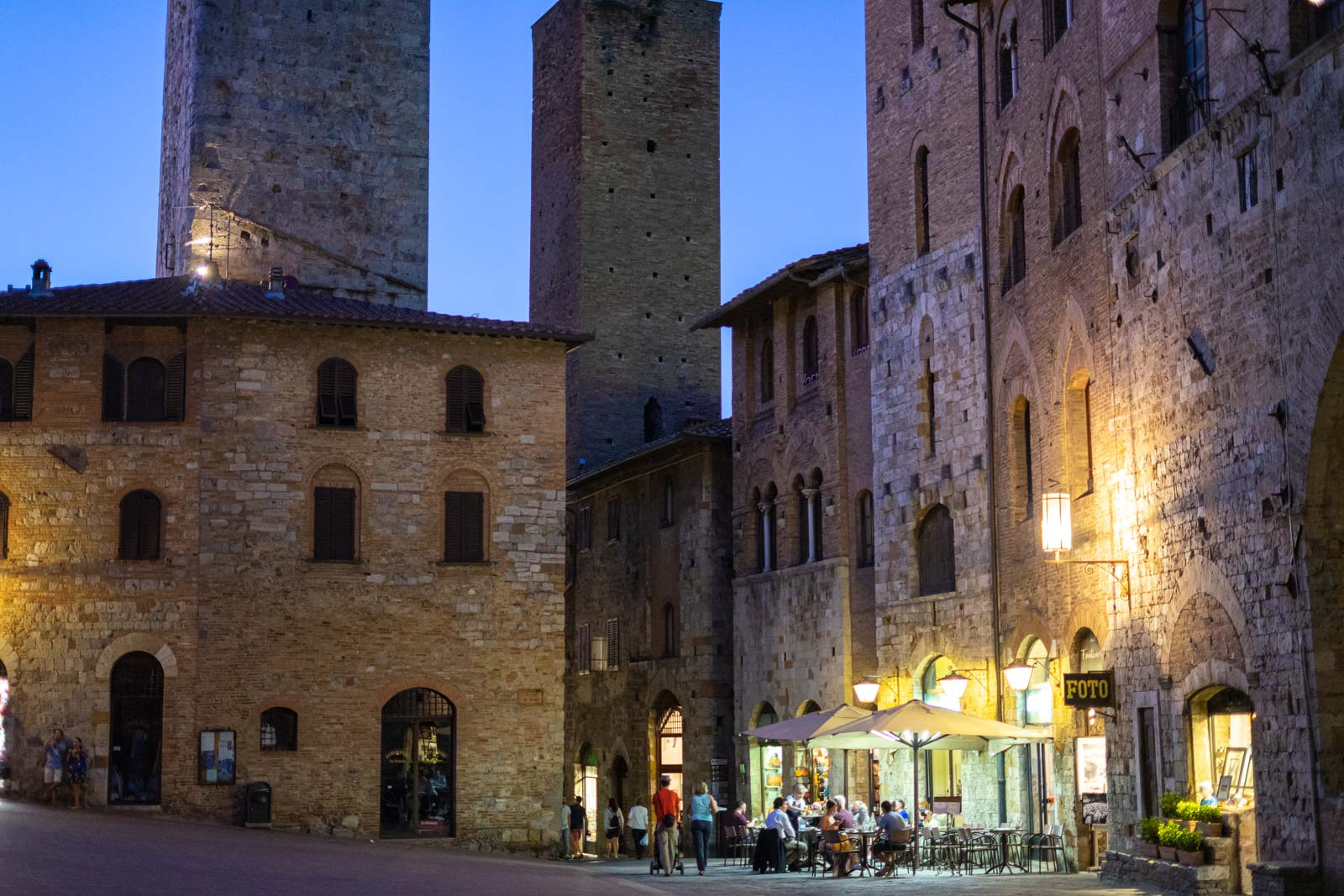 San Gimignano in the evening