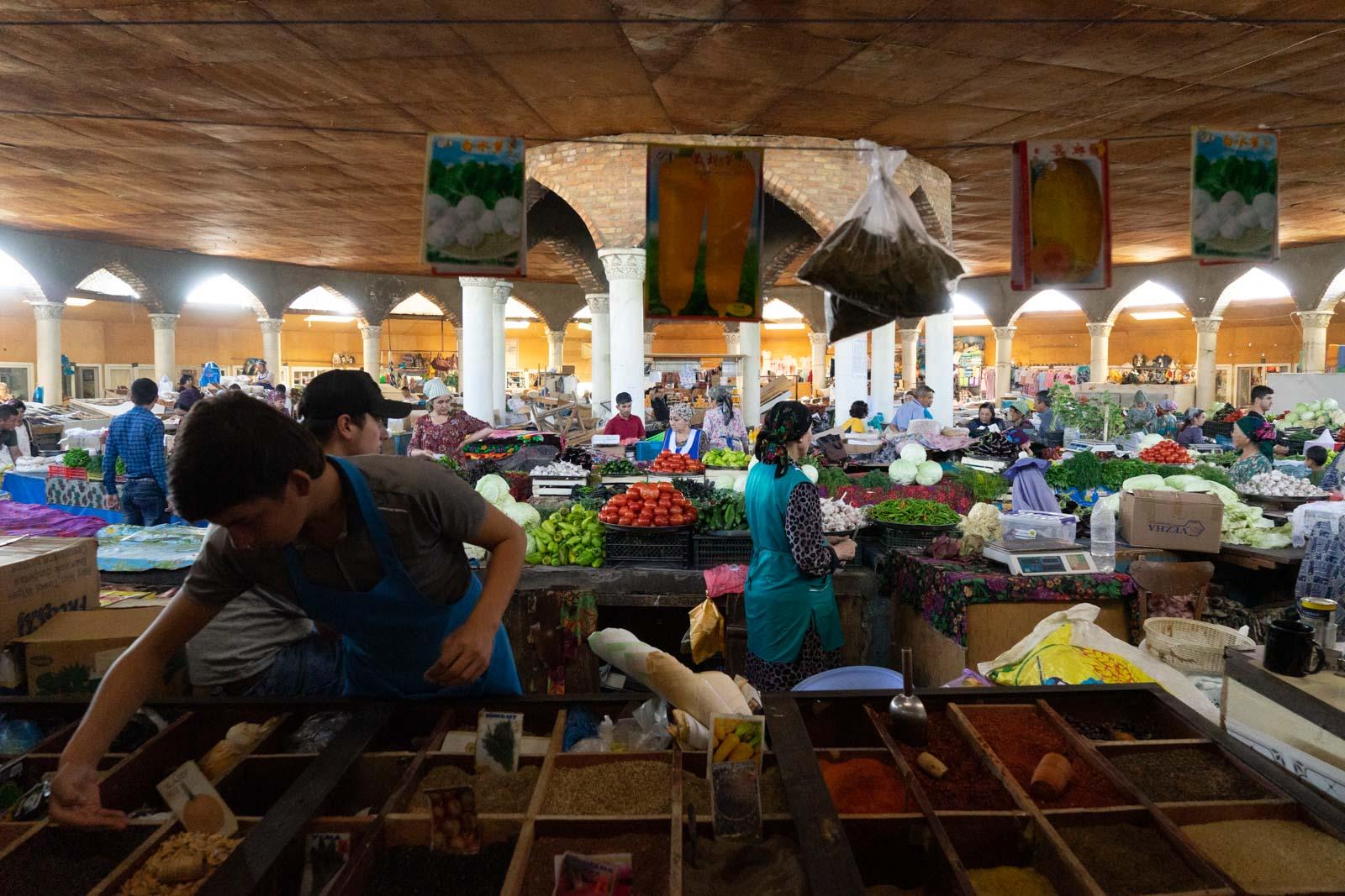 Penjikent Bazaar, Tajikistan