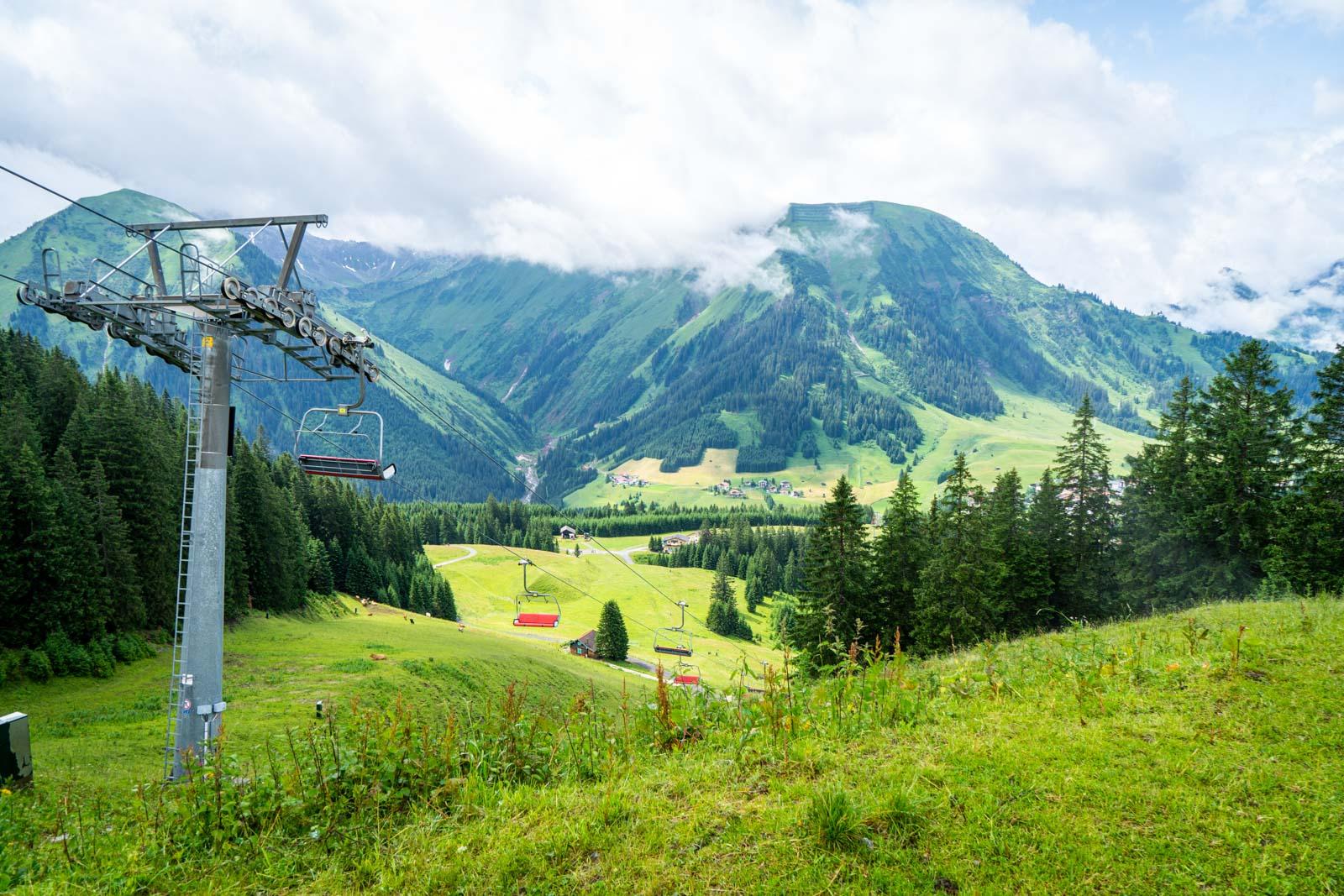Almkopfbahn Bichlbach, Tirol, Austria