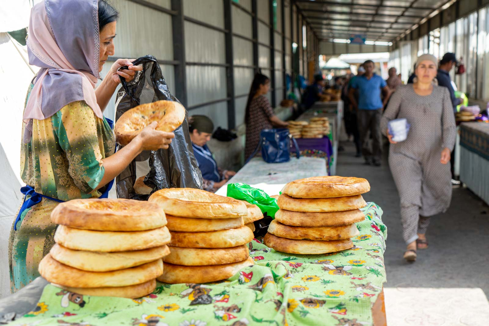 Central market, Panjakent, Tajikistan